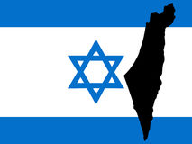 Map of Israel Stock Images