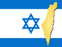 Map of Israel Stock Image