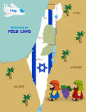 Map of Israel with two spies Royalty Free Stock Photography