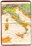Map of Italy Stock Images