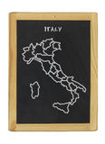 Map of italy. On a chalkboard Stock Image