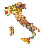 Map of italy Royalty Free Stock Photos