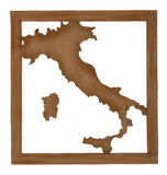 Map of Italy Royalty Free Stock Photo