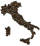 Map of Italy Royalty Free Stock Images