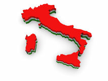 Map of Italy. Simple 3D map of Italy Royalty Free Stock Photos