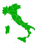 Map of Italy Stock Photos