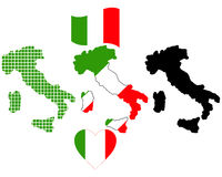 Map of Italy Royalty Free Stock Image