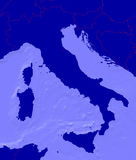 Map of italy with national borders Stock Photography
