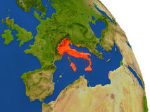 Map of Italy in red Stock Images