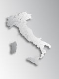 Map of Italy. Stock Photo
