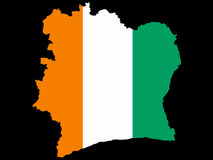 Map of ivory coast Stock Photography