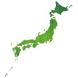 Map of Japan. Illustration of map of Japan with no background Stock Image