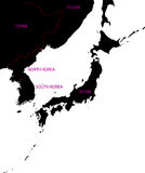 Map of Japan Stock Images