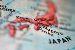Map of Japan Royalty Free Stock Photography