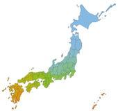 Map of Japan Royalty Free Stock Photos