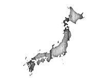 Map of Japan on weathered wood. Colorful and crisp image of map of Japan on weathered wood stock illustration