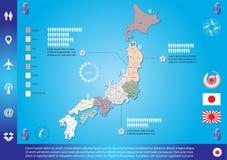 mapę japonii Obrazy Stock