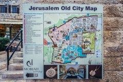 Map of Jerusalem Royalty Free Stock Photo