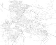 Map of Kabul, streets, Afghanistan. Asia Stock Photos