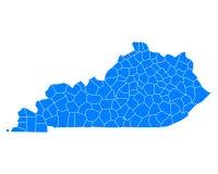 Map of Kentucky Royalty Free Stock Photo