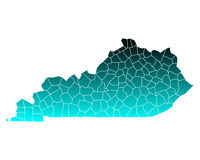 Map of Kentucky Royalty Free Stock Images