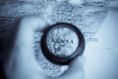 Map of Kenya Royalty Free Stock Images