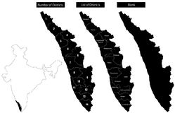 Map of Kerala Royalty Free Stock Photography