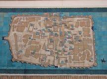 Map of Khiva, Uzbekistan Stock Photo