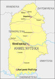 Map of Khmelnytskyi Oblast Royalty Free Stock Image