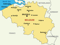 Map - Kingdom of Belgium - vector vector illustration