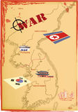 Map Korea, Vector. Royalty Free Stock Images