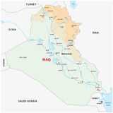 Map of the Kurdish regions in Iraq Royalty Free Stock Photography