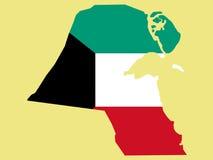 Map of kuwait Stock Image