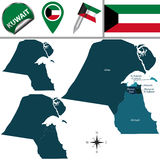 Map of Kuwait Stock Image