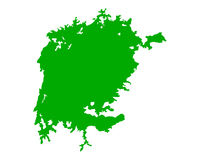 Map of Lake Victoria Royalty Free Stock Image