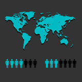 Map Landmass and People icon great for any use. Vector EPS10. Royalty Free Stock Photos