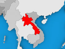 Map of Laos Stock Image