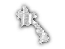 Map of Laos on old linen Royalty Free Stock Photos