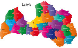 Map of Latvia royalty free illustration
