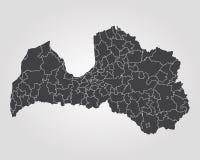 Map of Latvia Royalty Free Stock Image