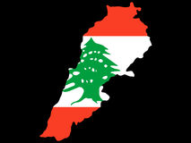Map of Lebanon Royalty Free Stock Photos