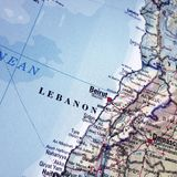 Map of Lebanon Stock Photography