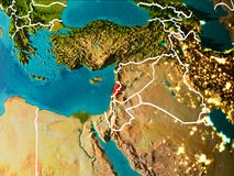 Map of Lebanon on Earth stock illustration