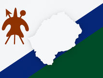Map of Lesotho. Royalty Free Stock Photos