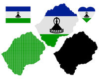 Map of Lesotho Royalty Free Stock Images