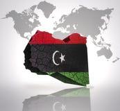 Map of Libya Royalty Free Stock Photo