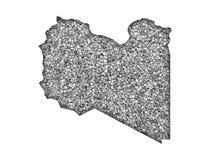 Map of Libya on poppy seeds Royalty Free Stock Photos