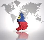 Map of  Liechtenstein Stock Photography