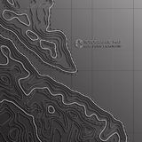Map line of topography. Vector abstract topographic map concept with space for your copy. Mountain hiking Stock Image