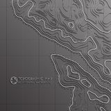 Map line of topography. Vector abstract topographic map concept with space for your copy. Mountain hiking Royalty Free Stock Photo